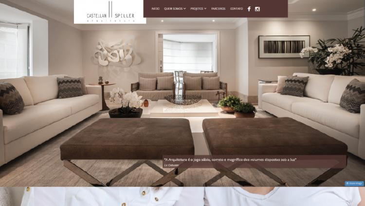 Reformulação de web site para a arquitetura Castellan ll Spiller - Widesigner criação de site