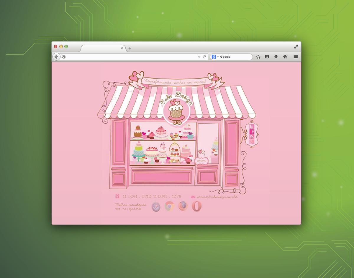Criação e Reformulação de web site para a Cake Designer - Widesigner criação de site