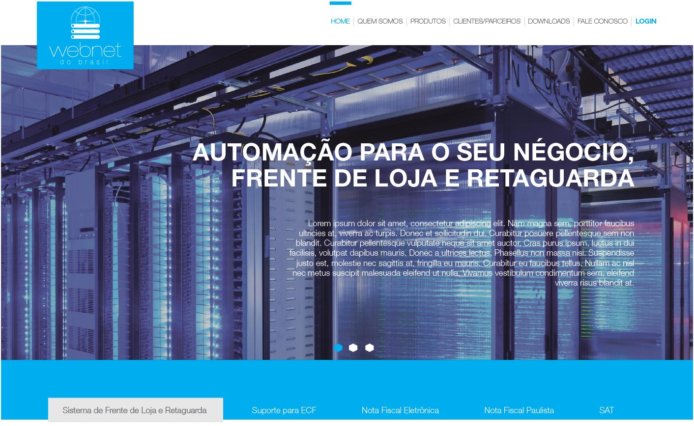Site Webnet do Brasil - Widesigner