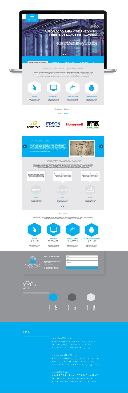Reformulação do site Webnet do Brasil - Widesigner criação de web site